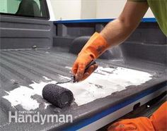 How to apply roll on bed liner to your truck.