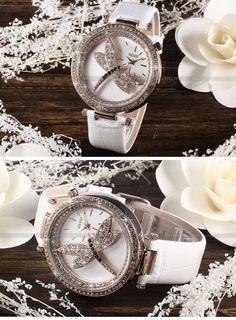AMPM24 Mode Damenuhr Dragonfly Damen Uhr groß Quarzuhr Leder Armband Uhr - http://uhr.haus/ampm24-2/ampm24-mode-damenuhr-dragonfly-damen-uhr-gross