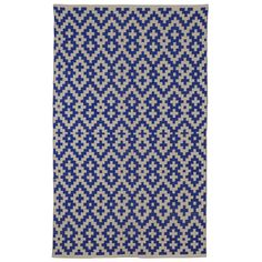 Fab Rugs Zen Samsara Cotton Indigo/Natural Area Rug