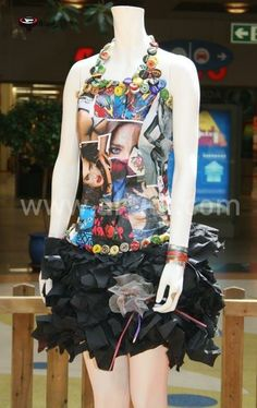 Confeccion de vestidos RECICLADOS