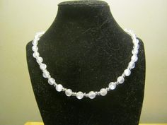 Pearlstyle necklace with clear beads 18 inches by carebear1984, $10.00