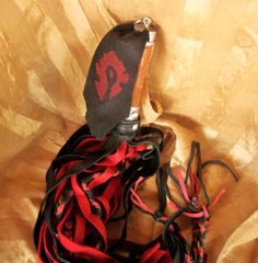 """World of Warcraft Horde inspired BDSM flogger Mature by GeekKink - While not for me, I'm sure there are others that might put this on their """"WANT!"""" list."""