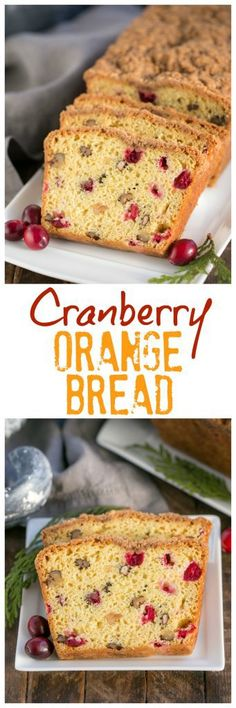 Streusel Topped Cranberry Orange Walnut Bread   Moist, dense cranberry walnut bread with a kick of orange and a rich streusel topping!