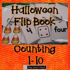 Halloween Flip Book: Counting 1-10  $