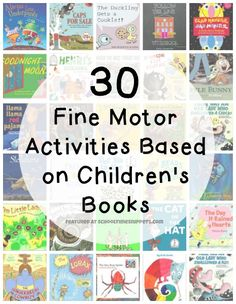 Enjoy reading a story with your child and then presenting a fine motor skills activity that is based on the book. There are so many fabulous fine motor activities to go along with your child's favorite story.