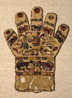 Huari Glove, 650-800 AD Peru, Pre-Columbian.