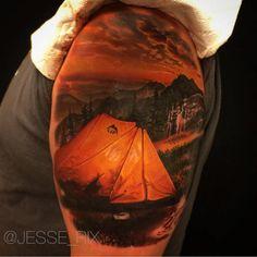 realistic tattoo design tent