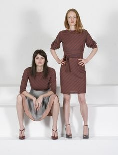 Stripes & Pastels *kaj.ani  (Silk Crepe-de-Chine & Wool jersey. by special order @kajanistudio.com)