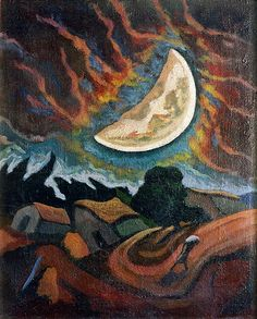 Luna del pintor uruguayo José Cuneo, famoso por sus Lunas y sus cielos