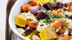 Beetroot, sweet potato & feta couscous
