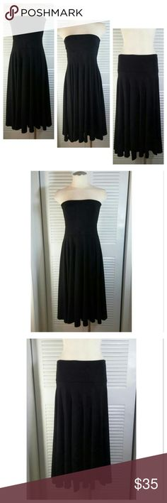 """J.Crew Convertible Maxi Dress/Skirt J.CREW Women's Convertible/Versatile Stretch Black SANUR Maxi Dress/Skirt Medium  *NEW with Tags* ( A Currant SOLD OUT item )  - Versatile Piece & Great 4 Many Occasions ALL SEASONS - Perfect to travel with: Dress it up or Casual - Soft & Very Comfortable - 57% Cotton 38% Modal 5% Spandex - Measurements laying flat 14.5% Tube top 35"""" Total Length J. Crew Dresses Maxi"""