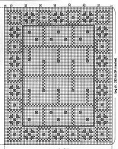 Crochet Table Runner Pattern, Crochet Tablecloth, Crochet Doilies, Crochet Lace, Crochet Chart, Filet Crochet, Crochet Patterns, Chrochet, Diy And Crafts