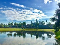 The Amazing Angkor Wat is just one of the many temples in Angkor Archaelogical Park in Siem Reap, Cambodia. Find where to capture an amazing Angkor Wat sunrise Siem Reap, Angkor Wat, Us Travel, Cambodia, Sunrise, River, Mountains, Park, Amazing