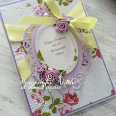 Birthday Card, Mum, Nan, Daughter, Friend, Wife, Personalized, Handmade by thelavenderblue on Etsy