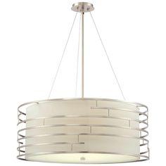Philips Labyrinth 4-Light Satin Nickel Hanging Pendant