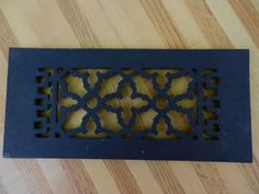 Cast iron scroll - decorative air return vent cover. Upgrade those ugly vents