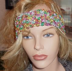 scarf Available at Captola at Etsy.com Multicolored ribbon scarf can be used as head band