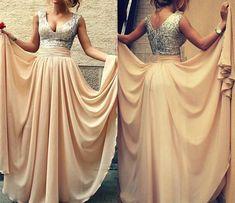 Long prom dress,v-neck prom dress,sleeveless prom dress,evening dress,graduation dress,PD190302