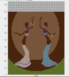 Dancing pattern / chart for cross stitch, crochet, knitting, knotting, beading… Cross Stitch Music, Cross Stitch Charts, Cross Stitch Patterns, Alpha Patterns, Loom Patterns, Hama Beads Patterns, Pixel Crochet, Bead Crochet, Cross Stitch Silhouette