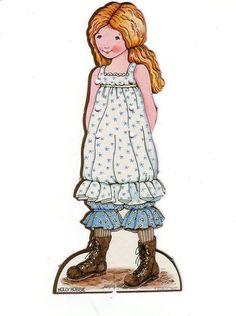 1932 Gullet and Per Paper Dolls.This From Kattie Klippdocker - MaryAnn - Álbumes web de Picasa Paper Dolls Book, Vintage Paper Dolls, Paper Toys, Paper Crafts, Holly Hobbie, Paper Dolls Printable, Dollhouse Dolls, Barbie, Vintage Children