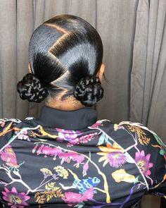 Lil Girl Hairstyles, Black Girl Braided Hairstyles, Girls Natural Hairstyles, Slick Hairstyles, Baddie Hairstyles, Natural Hair Styles, School Hairstyles, Hair Ponytail Styles, Braids Hairstyles Pictures
