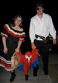 Family idea: wench (ha ha), pirate and parrot - too cute!