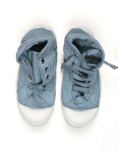 Jeansblauwe hoge sneakers - Bensimon