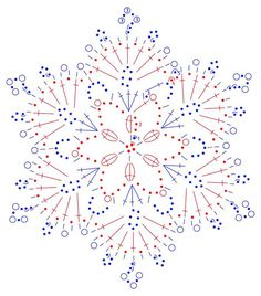New Ideas For Crochet Christmas Ornaments Patterns Angels Crochet Happy New Year Crochet Snowflake Pattern, Crochet Motifs, Crochet Snowflakes, Crochet Diagram, Doily Patterns, Thread Crochet, Crochet Crafts, Knitting Patterns, Crochet Patterns
