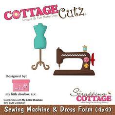 Cottage Cutz-4x4 Die-MLS-Sewing Machine      Item Number: COT-4x4-MLS011  Your Price: $19.95