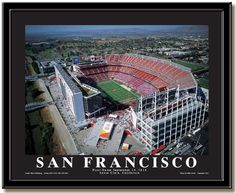 San Francisco 49ers Levi's Stadium Aerial Photo September 2014 inaugural game framed poster