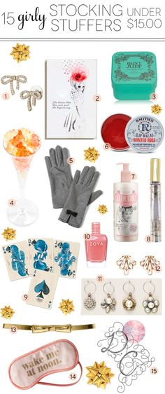 Any girl will be sure to love these ideas for stocking stuffers!