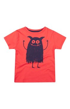Red Monster Print T-Shirt
