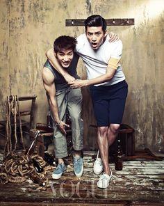 2PM's Jun.K and Taecyeon // Vogue Korea // June 2013