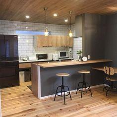 Diy Interior, Cafe Interior, Interior Design Kitchen, Kitchen Dinning Room, Wooden Kitchen, Sweet Home Design, Lunch Room, Kids Room Design, House Rooms