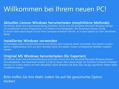 Wie die Windows Erstinstallation verbessert werden könnte
