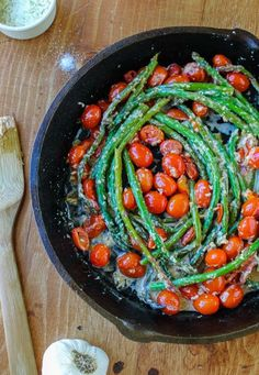 Sauteed Asparagus and Cherry Tomatoes by thefoodcharlatan #Asparagus #Tomatoes