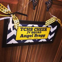 Cheer sign $18, etsy shop CoverCreations2