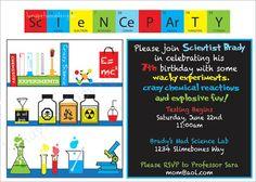 Mad science invitation