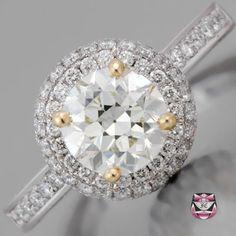 Art Deco Engagement Ring - Certified 1.45ct J/VS Diamond