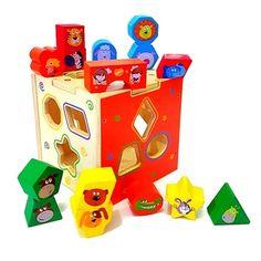 ของเล่นเสริมพัฒนาการ ของเล่นไม้ บล็อคหยอดไม้ 15 รูปทรง
