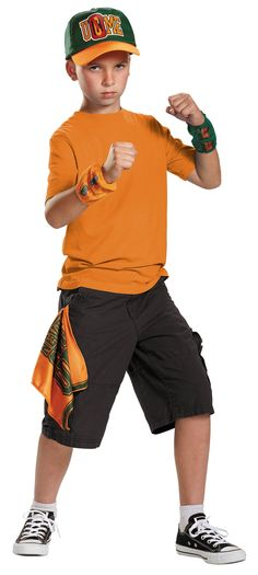 OFF or FREE SHIP -Boys Halloween Costume-John Cena Kids Costume Accessory Kit : Look just like your favorite WWE star John Cena with his officially licensed Hat, Bandanna and Wristband. One size fits most children. Wwe Costumes, Girl Costumes, Sports Costumes, Costume Ideas, Halloween Costume Accessories, Halloween Costumes For Kids, Halloween 2017, John Cena Costume, Costume Shop