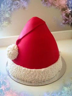 Santa's Hat Cake by Mystique Cake Creations, Perth, Western Australia. You'll find this Cake Appreciation Society Member in our Directory at www.cakeappreciationsociety.com