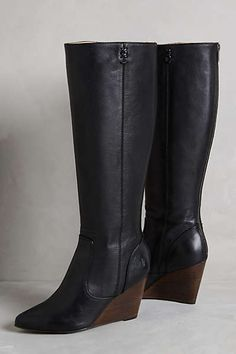 Anthropologie - Frye Regina Wedge Tall Boots