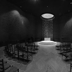 MIT Chapel, Architect: Eliel Saarinen, Hanging Sculpture: Harry Bertoia, 1955