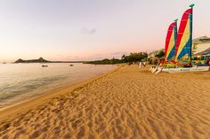 Breath-taking beach in front of the Bay Gardens Beach Resort & Spa in Saint Lucia