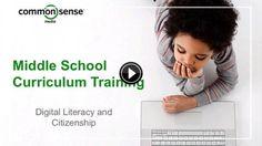 K-12 Online Curriculum Training | Common Sense Media--Middle School