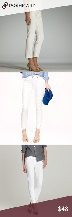 J. Crew matchstick Crop in white denim, 5 pocket Matchstick crop in white denim, 5 pocket, bronze grommets, 98 cotton 2% Elastane great condition! J. Crew Jeans Ankle & Cropped