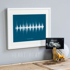 Large sound wave print personalised your voice or song a3 are you interested in our personalised baby heart beat ultrasound print with our sound wave print you need look no further negle Image collections