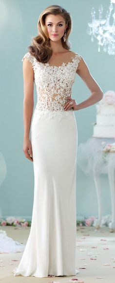 79 best Slim Fit Wedding Dress images on Pinterest | Wedding ...