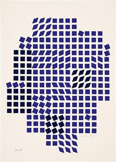 View Code Les Bleus by Victor Vasarely on artnet. Browse upcoming and past auction lots by Victor Vasarely. Victor Vasarely, Josef Albers, Architecture Quotes, Travel Humor, Illusion Art, Wedding Art, Op Art, Famous Artists, Artist Art